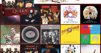 Quebra-Cabeça Queen Forever com Capas dos 15 Álbuns da Banda