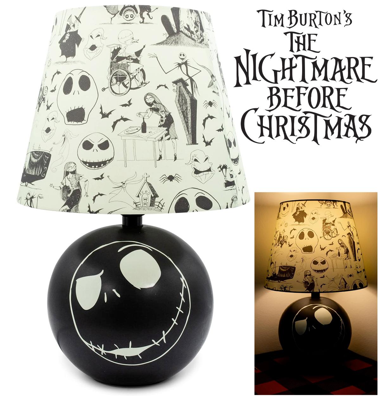 Abajur Jack Skellington do Filme O Estranho Mundo de Jack (The Nightmare Before Christmas)