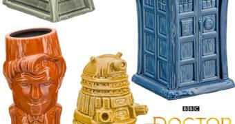 Canecas Doctor Who Geeki Tikis: TARDIS, 11º Doctor, K-9 e Dalek