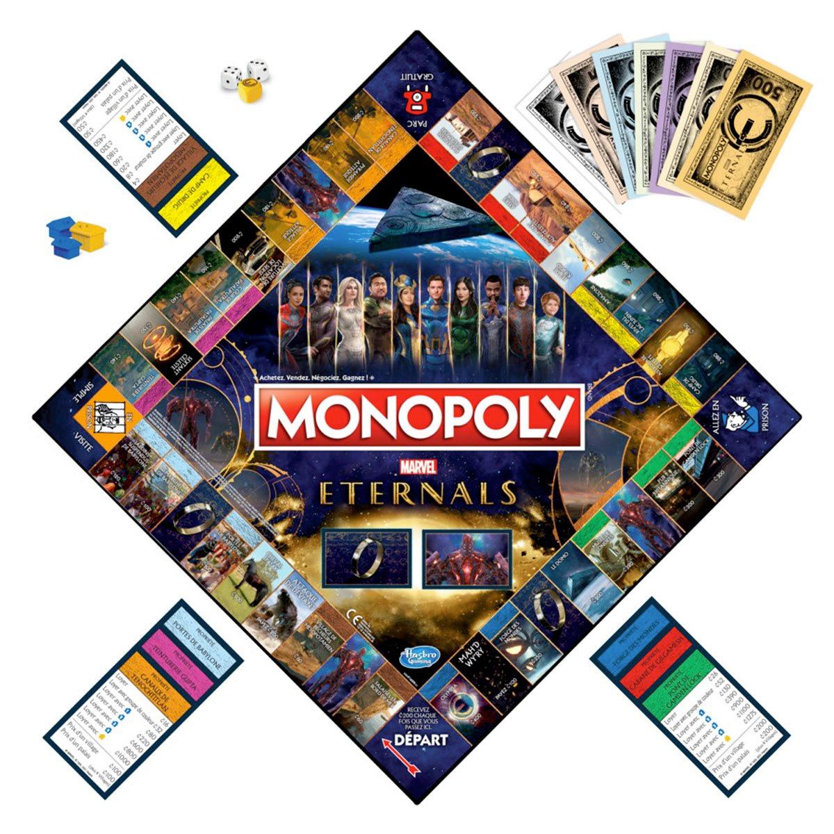 Jogo Monopoly do Filme Eternos (Eternals) da Marvel