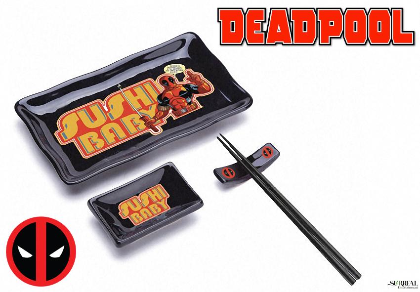 Set de Sushi Deadpool Marvel com 4 Peças