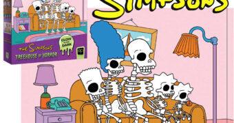 """Quebra Cabeça Os Simpsons Treehouse of Horror """"Esqueletos no Sofá"""" com 1.000 Peças"""