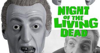 Máscara A Noite dos Mortos-Vivos de George Romero: Zumbi do Cemitério em Preto-e-Branco