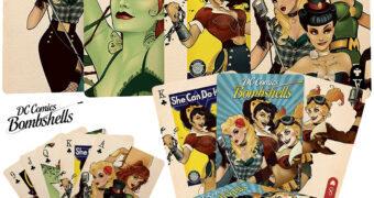 Baralho DC Comics Bombshells com 52 Super Pin-Ups