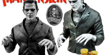 Cofre Universal Monsters: Frankenstein 1931 (Boris Karlof) em Preto-e-Branco