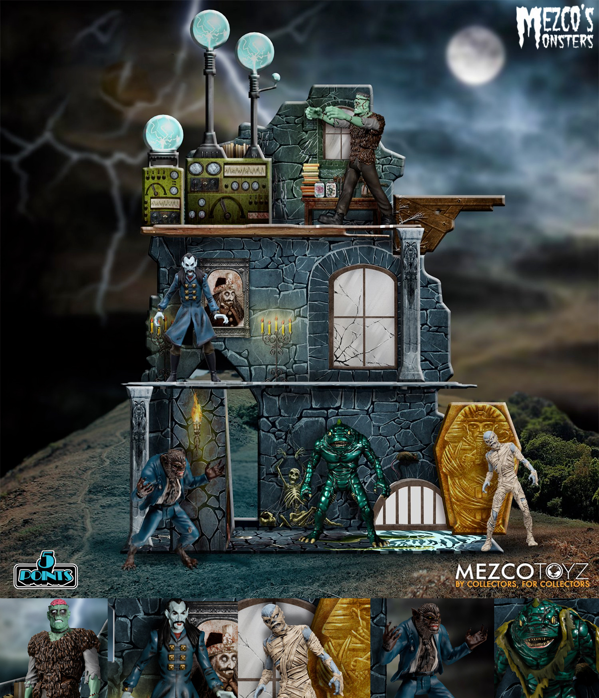 Mezco's Monsters: Tower of Fear Deluxe Boxed Set