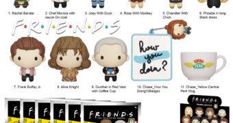 Chaveiros Friends 3D Figural Bag Clip Série 3 (Blind-Bag)